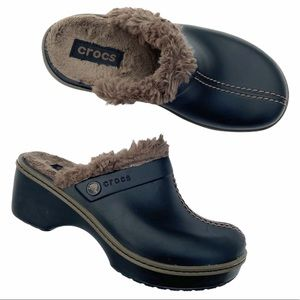 Crocs Cobbler Eva Fur Lined Slip On Clogs